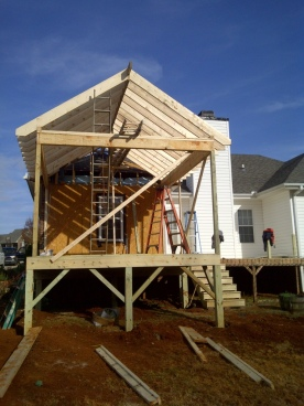 Structural Framing of the Porch