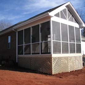 Completed screen porch
