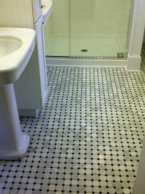 Black and white tile