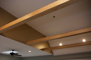 exposed wooden beams