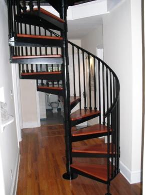 Finshed spiral stair case