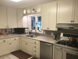Rather than installing new cabinets, this client opted to have the cabinets refaced. Refacing is an excellent way to give your kitchen a new fresh look for a fraction of the cost.